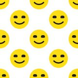 Smile Face Seamless Pattern. On white background. Vector Illustration Royalty Free Stock Image