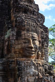 The Smile Face of  Tower in Bayon Temple Royalty Free Stock Photos