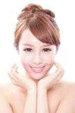 Smile Face of woman with health teeth Royalty Free Stock Photos