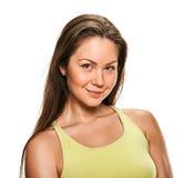 Smile fitness woman close portrait Stock Image