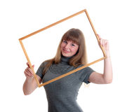 Smile in a frame Royalty Free Stock Image