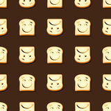 Smile and frown sliced bread seamless pattern Stock Photography