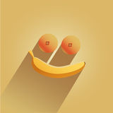 Smile of fruit Royalty Free Stock Photos
