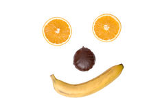 Smile from fruit and a zephyr. On white Royalty Free Stock Photography