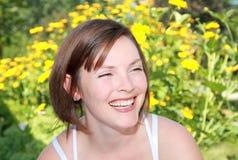 Smile in garden Stock Image