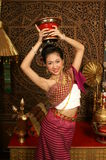 Smile Girl dancing. Lovely girl dancing Thai style Royalty Free Stock Photography