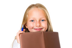Smile girl with diary Royalty Free Stock Photo