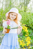 Smile girl in garden Royalty Free Stock Photography