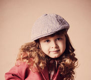 Smile girl in hat Royalty Free Stock Image