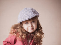 Smile girl in hat Royalty Free Stock Photo