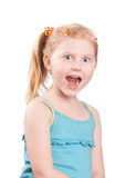 Smile girl isolated on white Stock Images