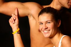 Smile Girl and muscles Stock Photography