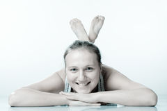 Smile Girl On The Fitness. Stock Image