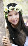 Smile girl in spring Stock Photos