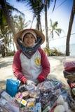 Smile girl, Vietnam. Vietnamese girl sells souvenirs to tourists, around HOI AN, Vietnam Royalty Free Stock Photo