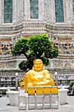 Smile Golden Chinese Buddha Royalty Free Stock Photos