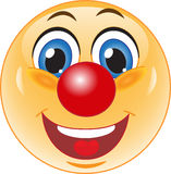 Smile. Good clown. Stock Image