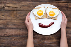 Smile for a good morning Stock Images