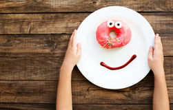 Smile for a good morning breakfast Royalty Free Stock Images