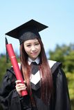 Smile graduate student woman Royalty Free Stock Images