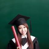 Smile graduate student woman Royalty Free Stock Photos
