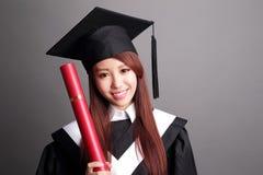 Smile graduate student woman Stock Photo