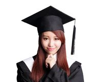 Smile graduate student woman Stock Image