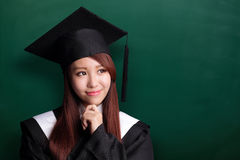 Smile graduate student woman Stock Photography