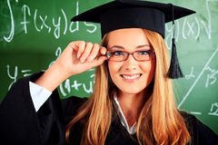 Smile graduation Stock Image