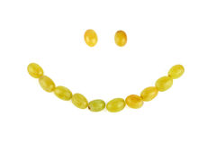 Smile from grapes Stock Photo