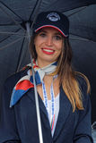 Smile of a grid girl Stock Photography