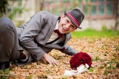 Smile groom royalty free stock image