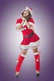 Smile happy Asian Christmas girl Stock Image