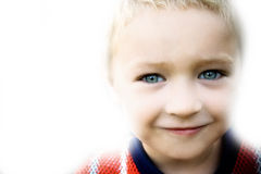 Smile of happy cute kid on white Royalty Free Stock Images