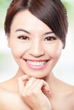 Smile Face of woman with health teeth Royalty Free Stock Images
