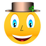 Smile in a hat with a clover Stock Photos