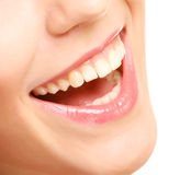 Smile with healthy teeth Royalty Free Stock Image