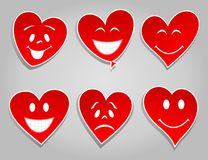 Smile hearts Stock Images