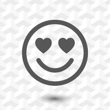 Smile with hearts of love icon stock vector illustration flat design Royalty Free Stock Photography