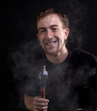Smile and hookah Royalty Free Stock Photos