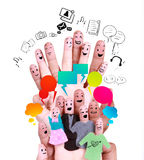 Smile human finger for symbol of social network Royalty Free Stock Photo