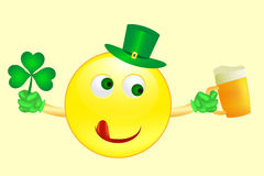 Smile icon on Saint Patricks Day Royalty Free Stock Photo