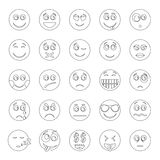 Smile icon set, outline style. Smile icon set. Outline illustration of 50 smile icons for web stock illustration