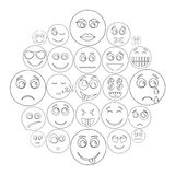 Smile icon set, outline style. Smile icon set. Outline illustration of 50 smile icons for web vector illustration