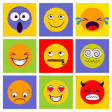 Smile icon. Smiley faces expressing different feelings. Royalty Free Stock Images