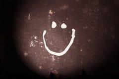 Smile icon - Wall Stock Image