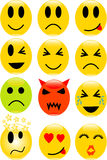 Smile icons. Set of vector smile icons Royalty Free Stock Photography