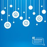 Smile icons. Happy, sad and wink faces Royalty Free Stock Image
