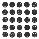 Smile icons set expressions emotsii. Royalty Free Stock Photos