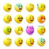Smile icons set, isometric style Royalty Free Stock Photos